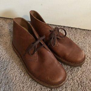 Boys Clark's originals desert boot brown 12.5